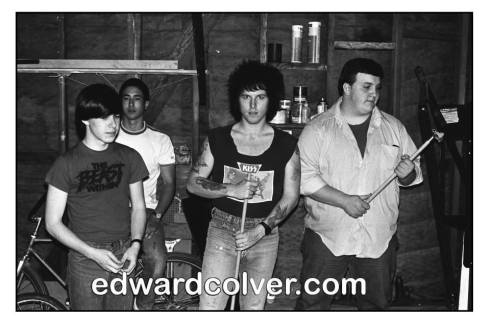 Frank Agnew, Rikk Agnew and Steve Soto  of the Adolescents. Photo by Edward Colver