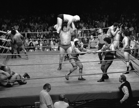 "Andre The Giant ""Battle Royale"" by Theo Ehret. Olympic Auditorium 1976"