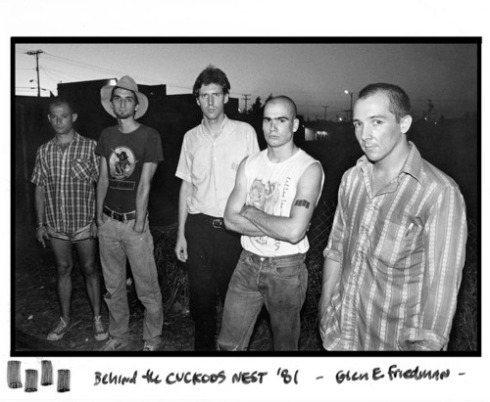 Glen E. Friedman photo of Black Flag behind the Cuckoo's Nest in Costa Mesa, 1981