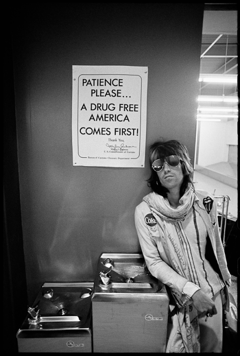 Keith Richards Patience Please by Ethan Russel. Rolling Stones US Tour 1972.  The largest print size was sold out. Price? $12,000.