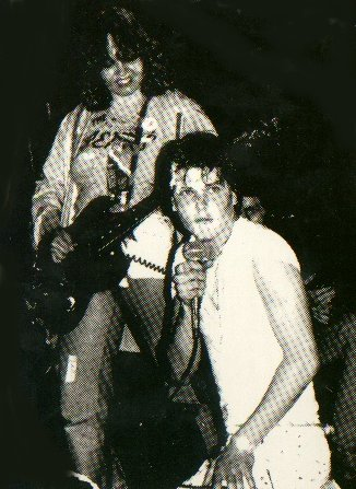The Germs 1977, Lorna & Darby playing their 1st show at the Whiskey