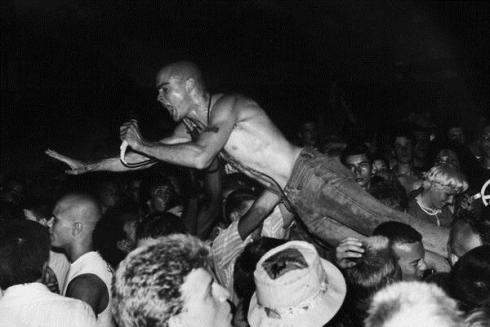 Black Flag Singer Henry Rollins, Photo By Edward Colver in 1981