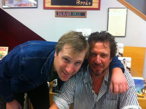 Hanging with Richard Hell at his reading in Los Feliz - Skylight Books, LA