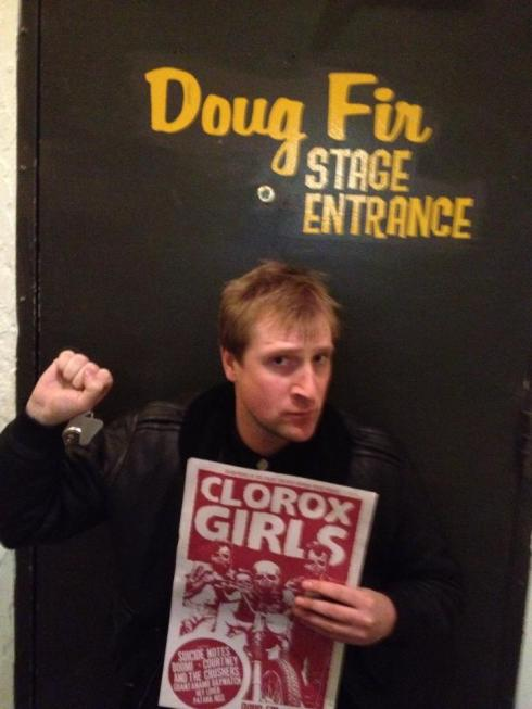 About to go onstage - Book Reading & Clorox Girls reunion show - Portland, OR  @ Doug Fir