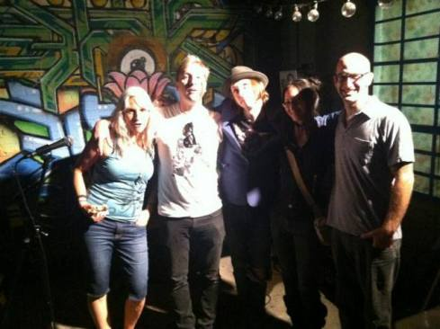 Writers hanging out after our reading at Rrose Is A Prose, Echo Park Rising Festival, Los Angeles (with Seth Michelson, Dan Collins, Janet Housden and more)