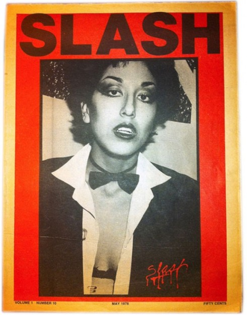 Alice Bag on the cover of Slash Magazine