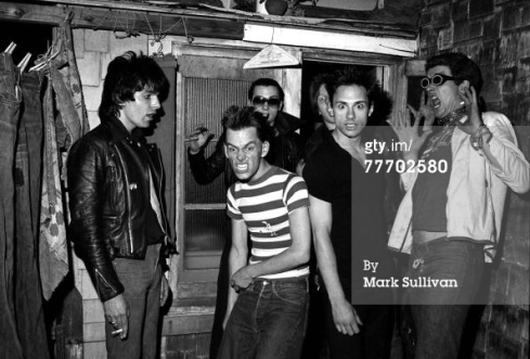 The Damned hanging out with The Screamers, LA 1977. Photo by Mark Sullivan