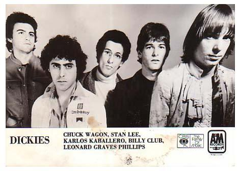 The Dickies, A & M Records promo photo, 1979