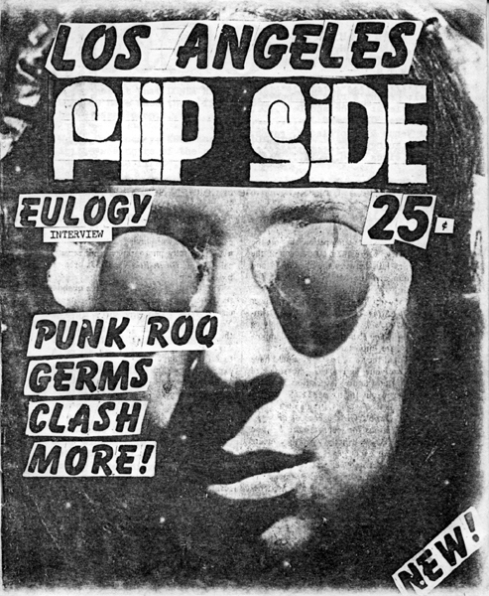 "An early issue of Flipside covering The Germs as well as ""Punk Roq"""