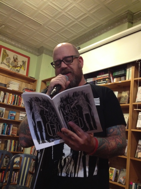 Sean H. Doyle reading with me at Bluestockings Books