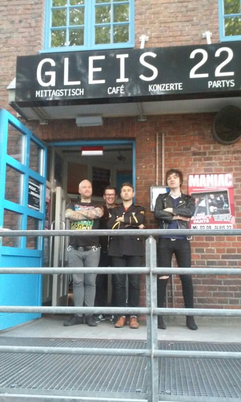 Posse in front of Gleis 22, Munster, Germany (Photo by Justin Maurer)