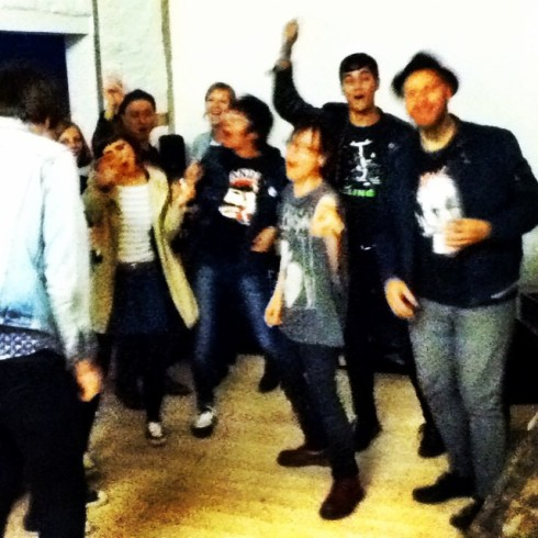 Dance party at Vom's! (Photo by CB Mangler)